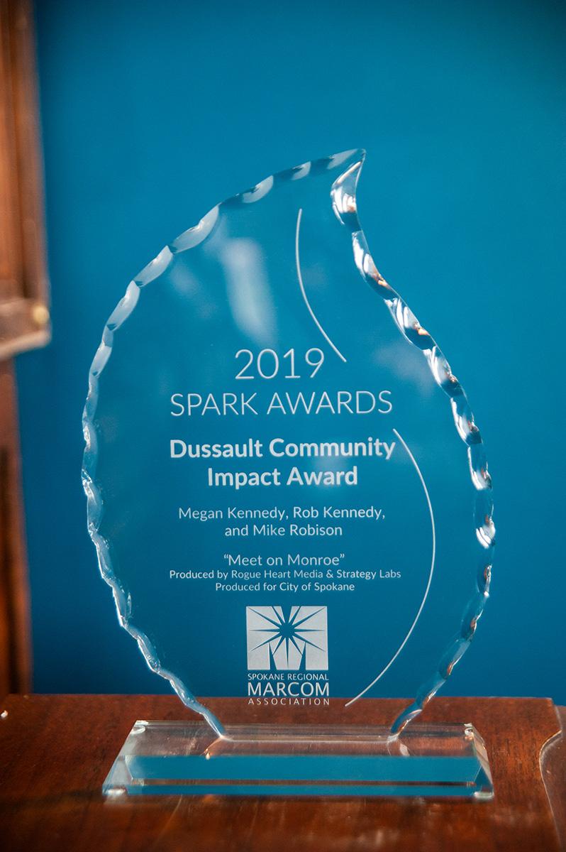 dussault community impact award 2019